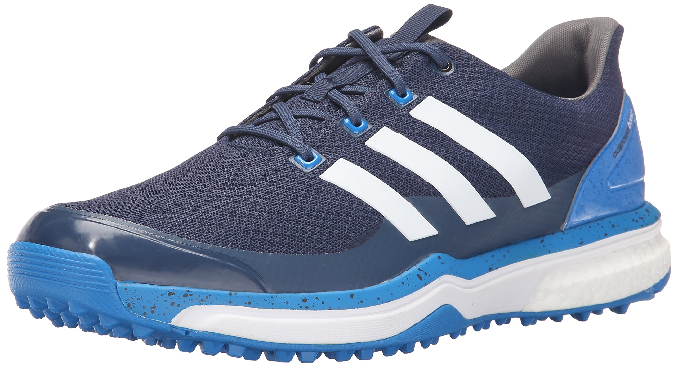 adidas Men's Adipower S Boost 2 Golf Cleated, Mineral Blue S16/FTWR White/Shock Blue S16, 8 M US