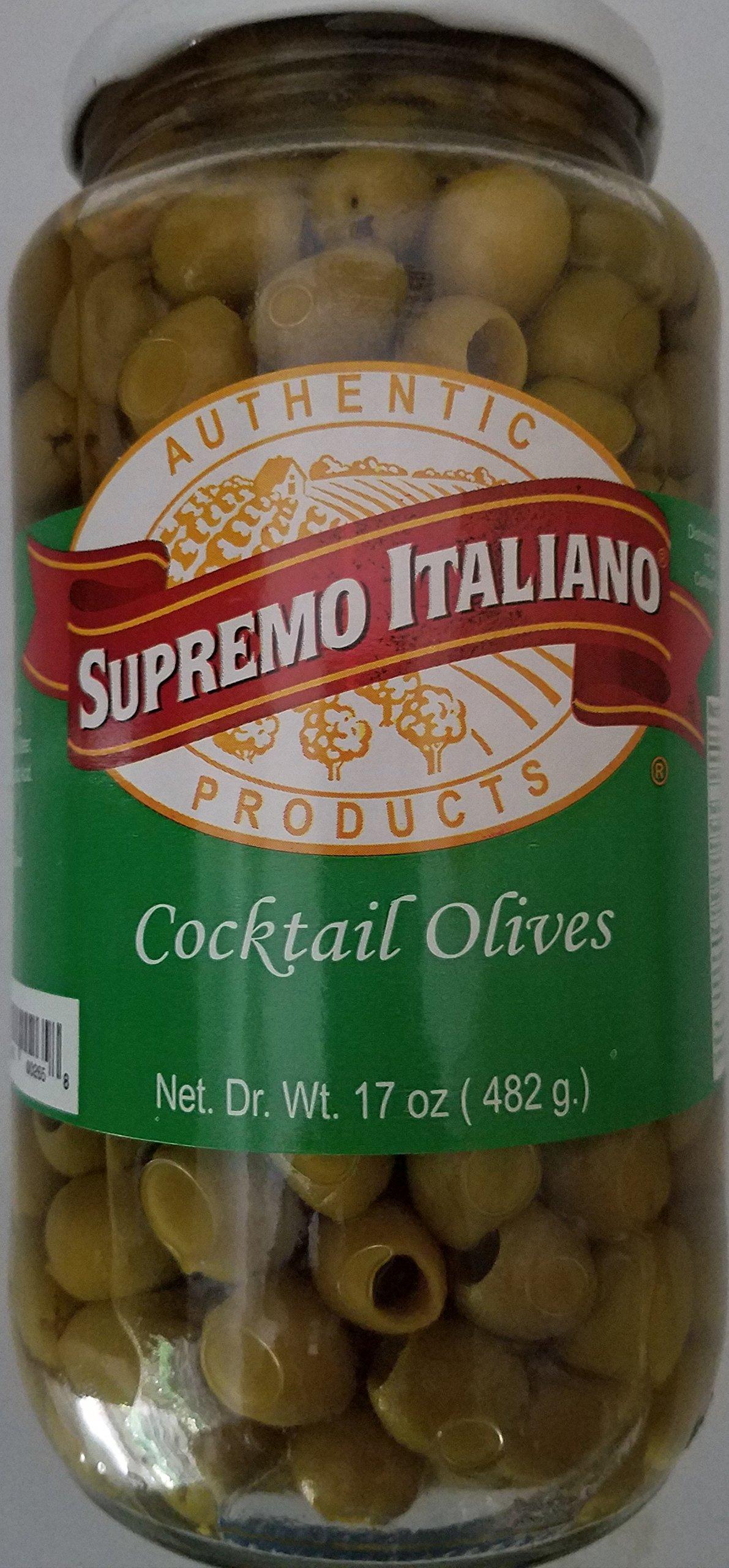 Supremo Italiano Cocktail Olives, 17 Ounce