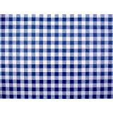 THE TABLECLOTH SHOP Blue Gingham Vinyl Tablecloth Table Cover 2 Metres