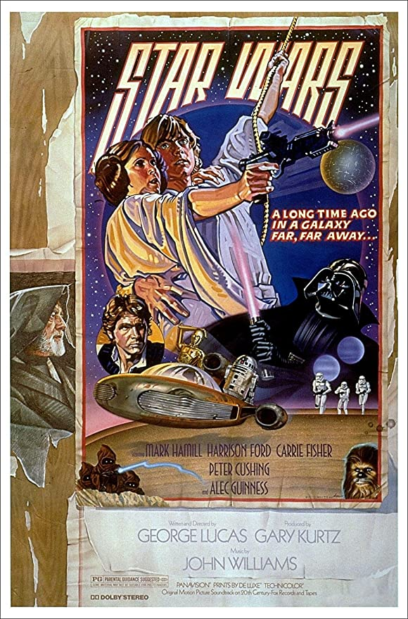 Amazon Com Star Wars Episode Iv A New Hope Movie Poster Style D Size 27 Inches X 40 Inches Prints Posters Prints