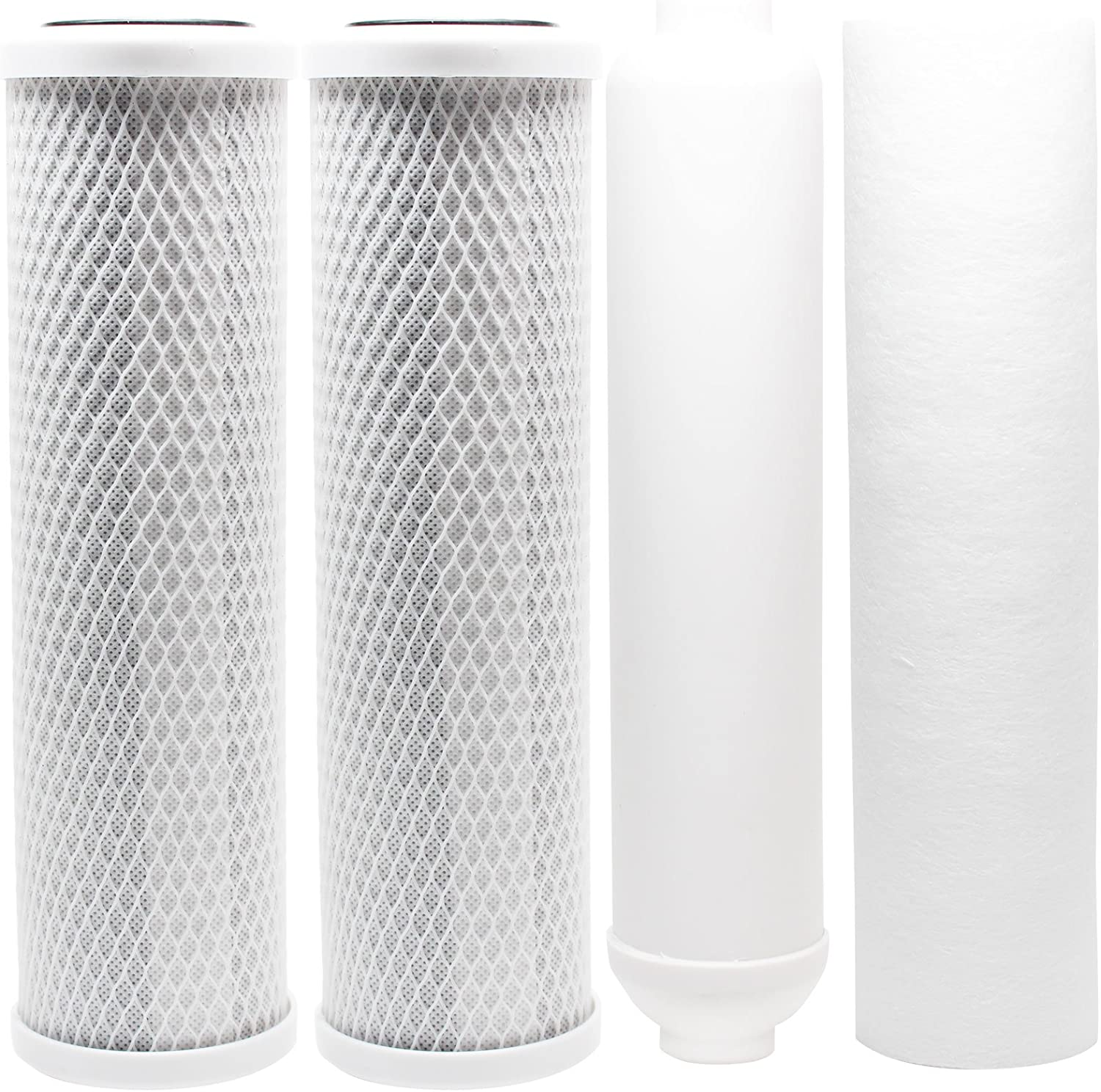 Amazon Com Replacement Filter Kit Compatible With Apec Roes 50 Ro System Includes Carbon Block Filters Pp Sediment Filter Inline Filter Cartridge Denali Pure Brand Home Improvement