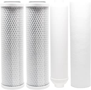 Replacement Filter Kit Compatible with Proline Proline Plus RO System - Includes Carbon Block Filters, PP Sediment Filter & Inline Filter Cartridge - Denali Pure Brand