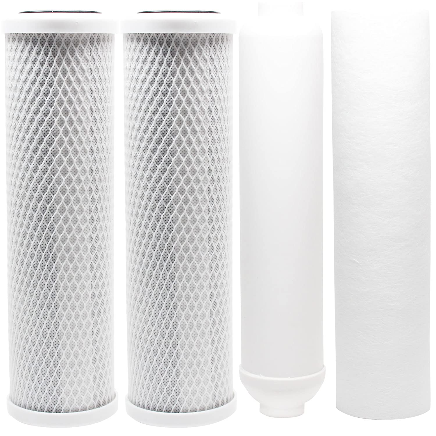 Replacement Filter Kit Compatible with Goldline Goldline-50 RO System - Includes Carbon Block Filters, PP Sediment Filter & Inline Filter Cartridge - Denali Pure Brand