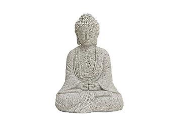 Amazon.de: Buddha-Figur sitzend, 13cm in Grau | Deko-Artikel für ...