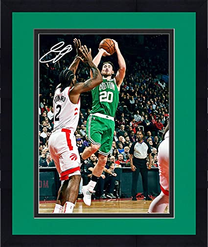 631a8c96ef7 Framed Gordon Hayward Boston Celtics Autographed 16 quot  x 20 quot  Jump  Shot Photograph - Fanatics