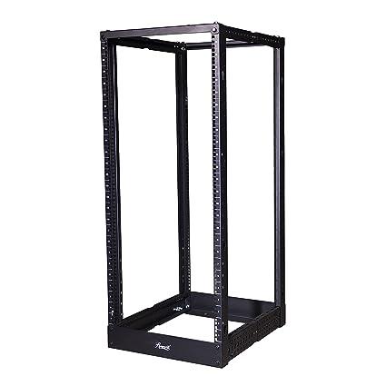 Rosewill 25u Adjule Depth Open Frame 4 Post Server Rack Cabinet With Cable Management Hooks