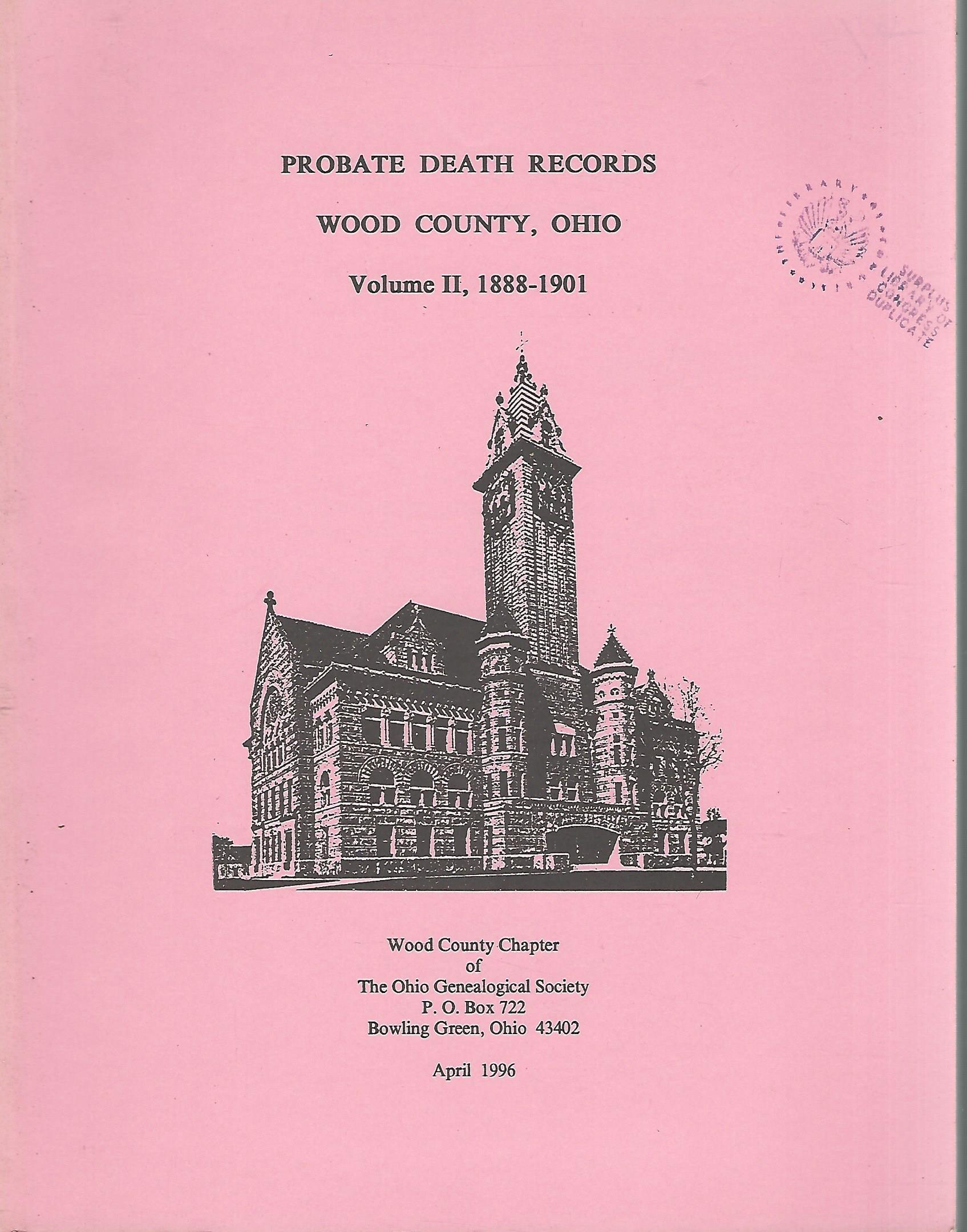 wood county ohio death certificates