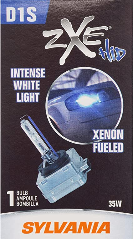 with a HID Attitude and Style Xenon Fueled High Intensity Discharge SYLVANIA High Performance Brighter and Whiter Light Headlight Bulb Contains 1 Bulb D1R SilverStar zXe HID