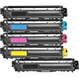 1 Pack + 1 Black of Total 5 Inktoneram Replacement toner cartridges for Brother TN221 TN225 BK/C/M/Y TN-221 TN-225 Combo Pack MFC-9340CDW HL-3170CDW HL-3170CW HL-3140CW MFC-9130CW MFC-9330CDW