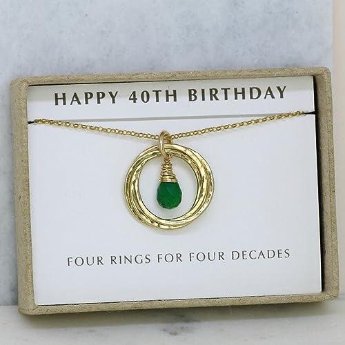 Amazon 40th Birthday Gift May Birthstone Necklace