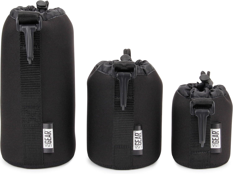Made in USA Camera Lens Cases... Three sizes. DSLR camera lens bag. Drawstring top.