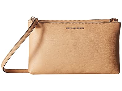 cf809eb1ead0 MICHAEL Michael Kors Adele Pebbled Leather Crossbody - Pale Gold Butternut   Handbags  Amazon.com