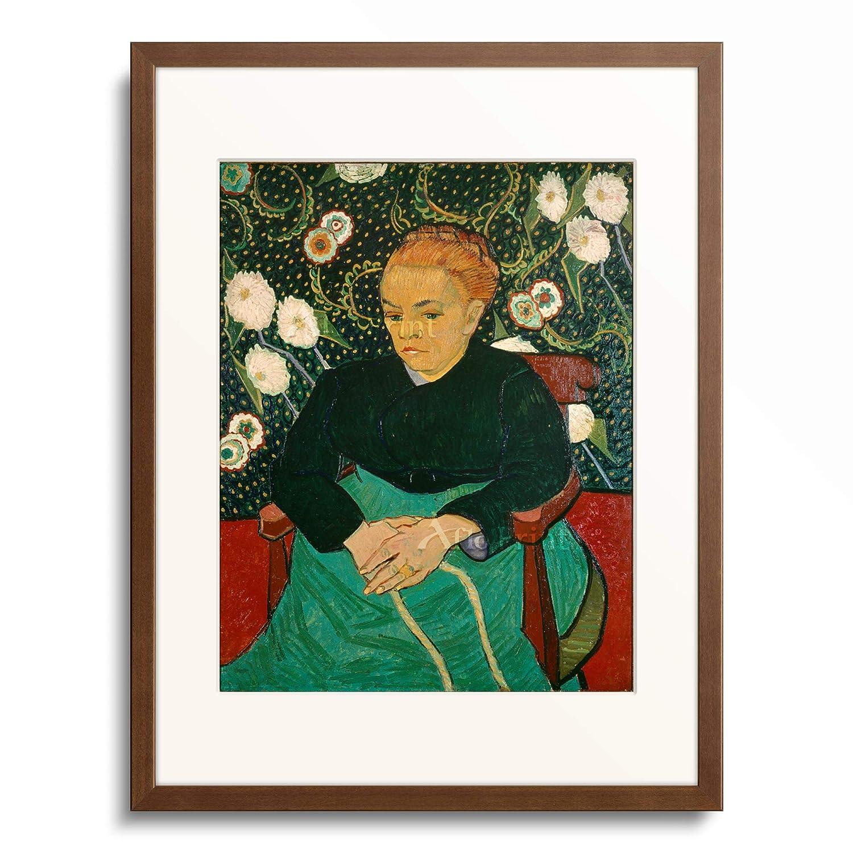 フィンセントファンゴッホ Vincent Willem van Gogh 「ゆりかごを揺らすルーラン夫人(子守唄) La Berceuse (Augustine Roulin)」 額装アート作品 B07PGD9P29 11.木製額 13mm(茶) XL(額内寸 727mm×545mm) XL(額内寸 727mm×545mm)|11.木製額 13mm(茶)