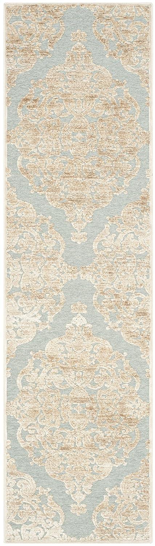 Safavieh Marigot Bereich Teppich, Stein/Aqua, 66x 243cm