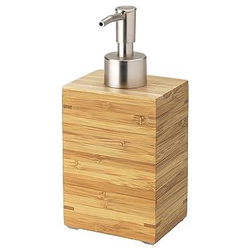 Seifenspender holz  IKEA Seifenspender DRAGAN Holz und Edelstahl: Amazon.de: Küche ...