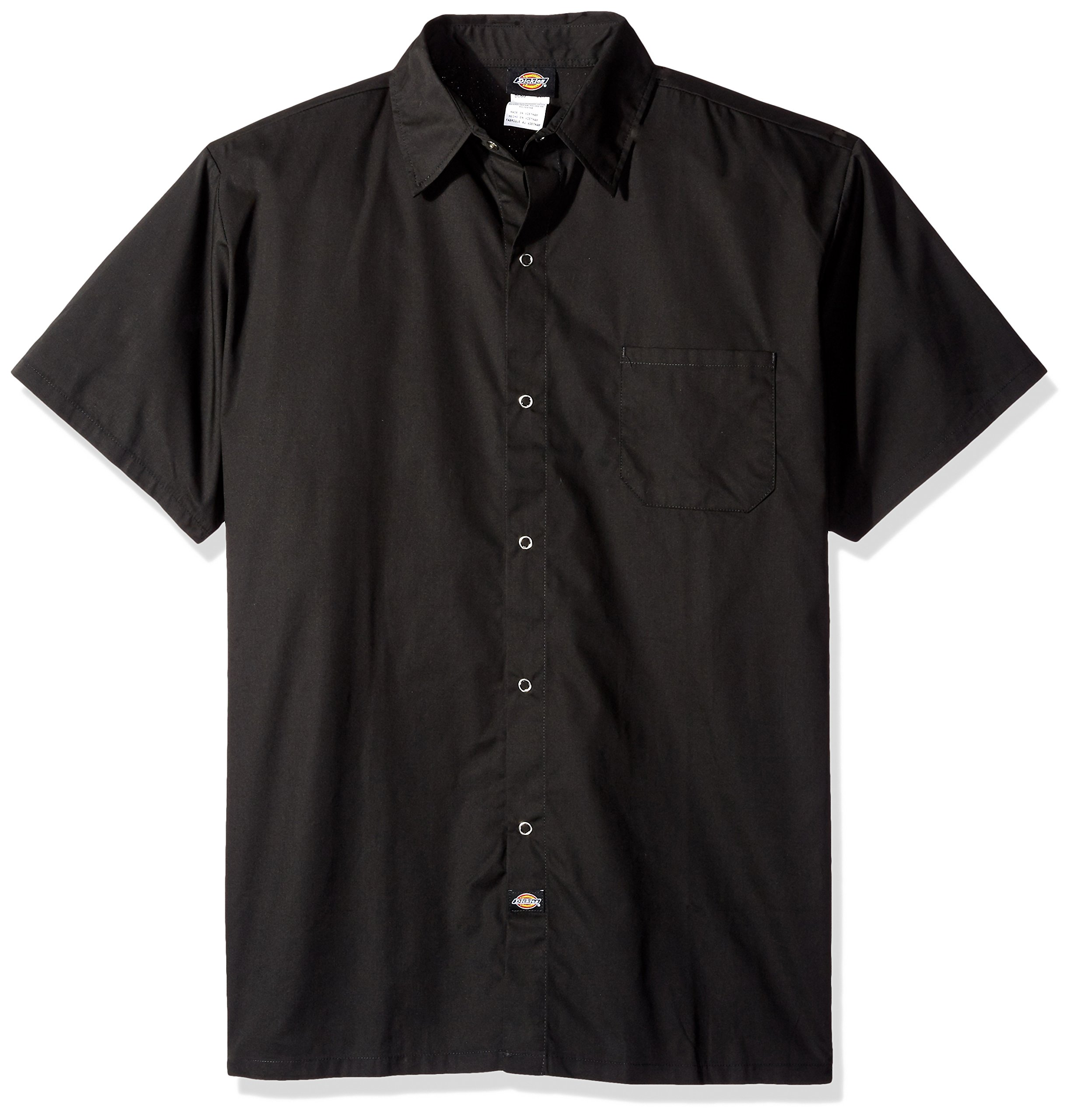 Dickies Chef Poplin Cook Shirt, Black, 5X-Large