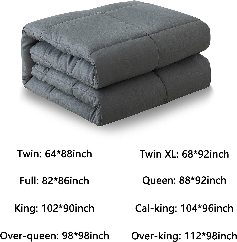 Twin Size Navy Blue Corner Duvet Tabs Lightweight All Season Duvet Insert-Stand Alone Comforter 64/×88 Inch Cosybay Down Alternative Comforter