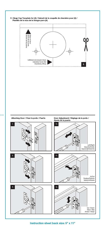 BRAINERD H811SMV-NP-C 35mm 5/8-Inch Euro 100Deg Face Frame Cabinet ...