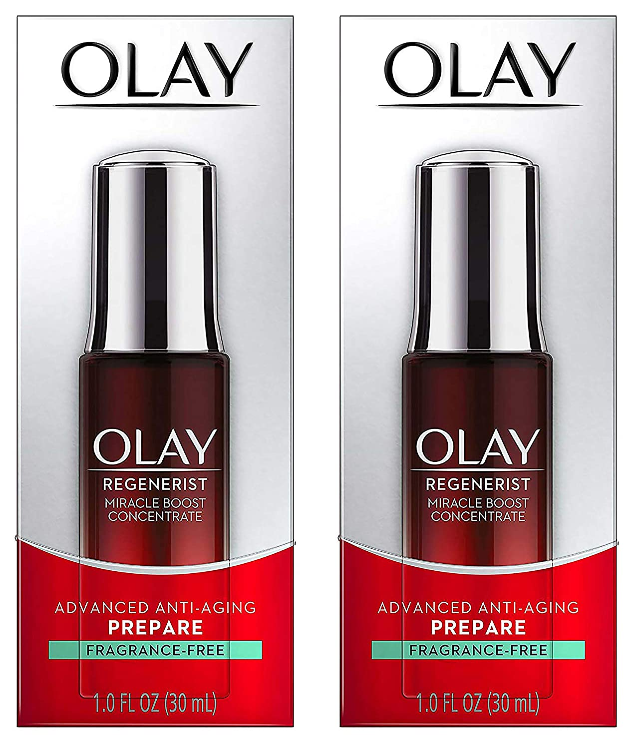 (PACK of 2) ΟΙay Regenerist Miracle Boost Concentrate Advanced Anti-Aging, Fragrance-Free, 1 Fl Oz (30 ml) EACH