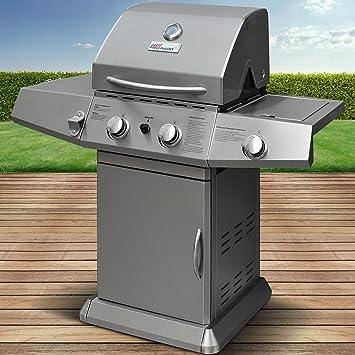 Broil-master - Barbacoa BBQ a gas con muchos detalles adicionales Calidad certificada por TÜV