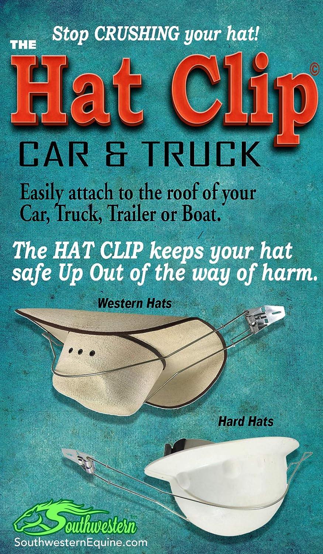 Southwestern Equine Metal Hat Clip for Trucks Cars SUV Sturdy Hat Holder Curved