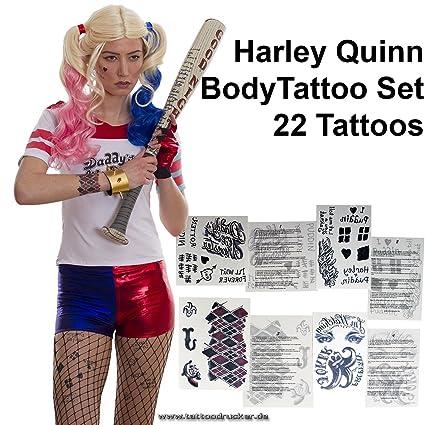 Tatuajes temporales Harley, diseños de lazo, 22 pegatinas para Body Art, Carnaval,