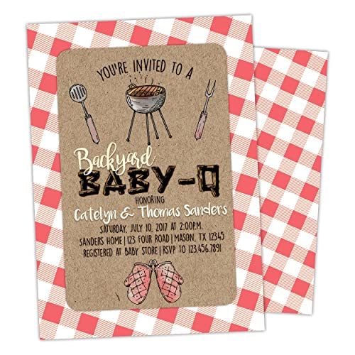 Amazoncom BBQ Baby Shower Invitations BabyQ Handmade