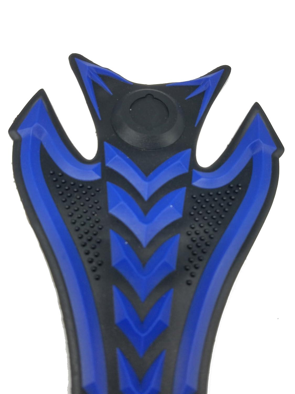8 Blue 3D Rubber Side Tank Pad Protector for Kawasaki Ninja Z1000 ZX-10R ZX-6R Z800 H2R VERSYS