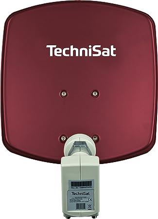 Technisat Digidish 33 Satelliten Schüssel Für 2 Teilnehmer 33 Cm Kleine Sat Anlage Komplettset Mit Wandhalterung Und Universal Twin Lnb Rot Heimkino Tv Video