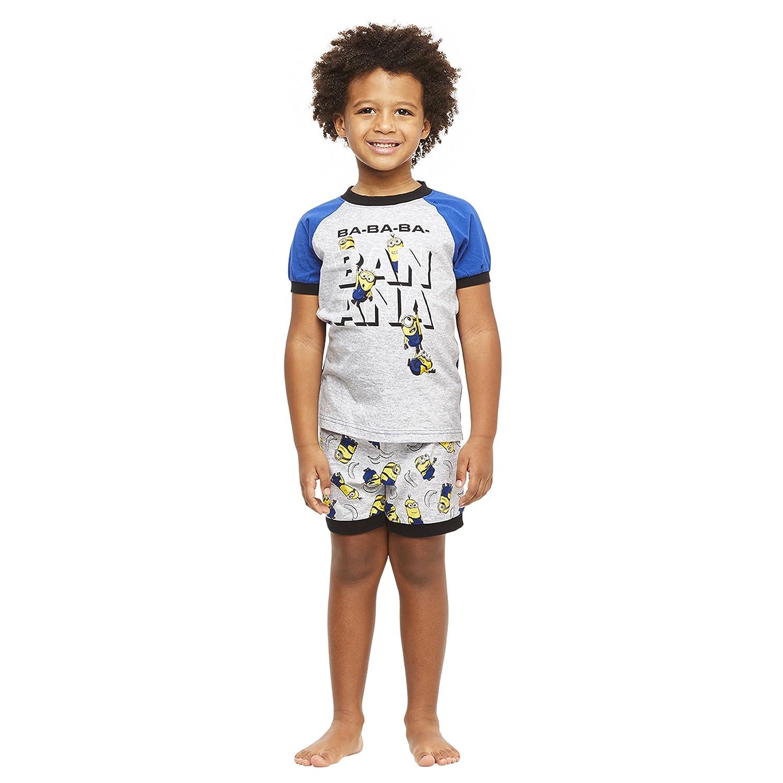 Short-Sleeve Top and Shorts Jellifish Kids Boys 2-Piece Cotton Pajamas Set