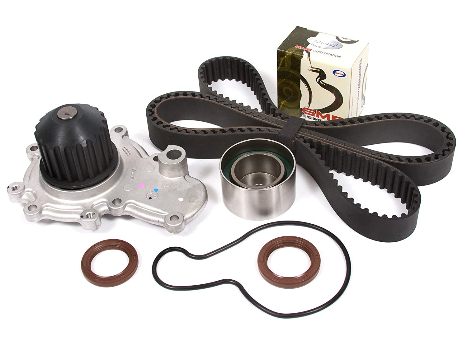 Evergreen TBK245WPT 95-99 Chrysler Dodge Plymouth 2.0 SOHC ECB Timing Belt Kit Water Pump Evergreen Parts And Components