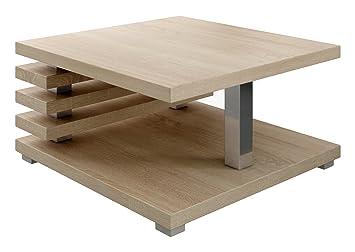 Tavolino Salotto Rovere Chiaro.Tavolino Da Caffe Tavolino Da Salotto Tavolo Oslo 60 X 60 Cm Rovere Chiaro Sonoma