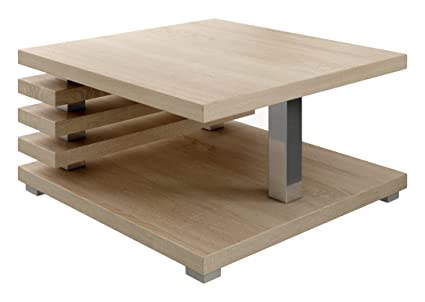 Table Basse Table De Salon Oslo 60 x 60 cm Chêne Clair Sonoma
