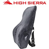 High Sierra HS1436 - Full Size Ergonomic Back Support Pillow - Relieves Painful Pressure Points - Premium Memory Foam - Lumbar Support for Office Chair, Car/SUV - Fits Most Seats - Breathable Cover