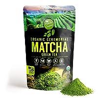 Pure Organic Ceremonial Grade Matcha Green Tea Powder Extract – 100% Natural Energy...