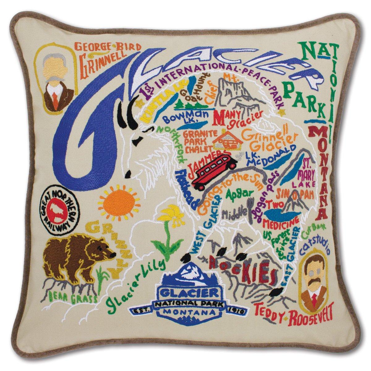 Glacier Park手刺繍枕 ndash; Catstudio  B00ESF6YAI