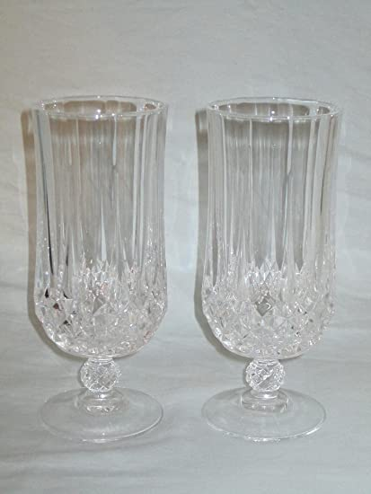 Cristal Darques France.Amazon Com Set Of 2 Cristal D Arques France Longchamp Crystal