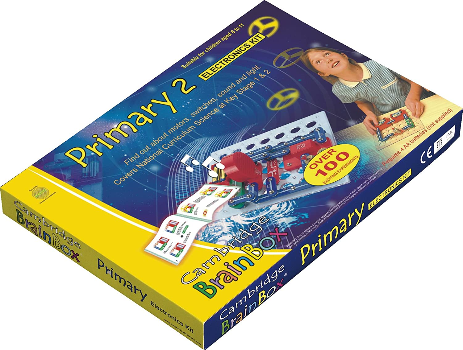 Cambridge Brainbox Primary 2 Electronics Kit Toys Games Circuit Application Dark Activated Switch Circuits