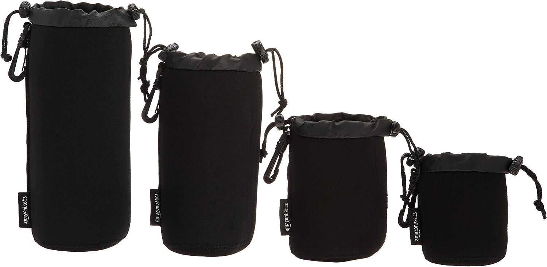 AmazonBasics – Fundas protectoras para lentes de cámaras, impermeables