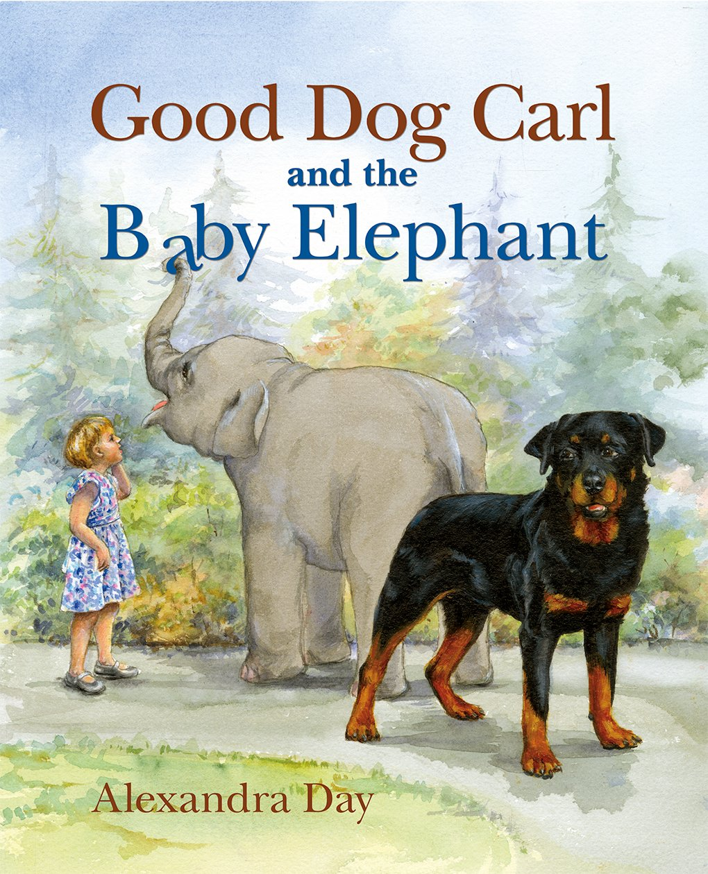 good dog carl and the baby elephant alexandra day 9781514900222