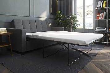 purchase cheap 13841 160b8 Signature Sleep Devon Sleeper Sofa with Memory Foam Mattress, Grey Linen,  Full