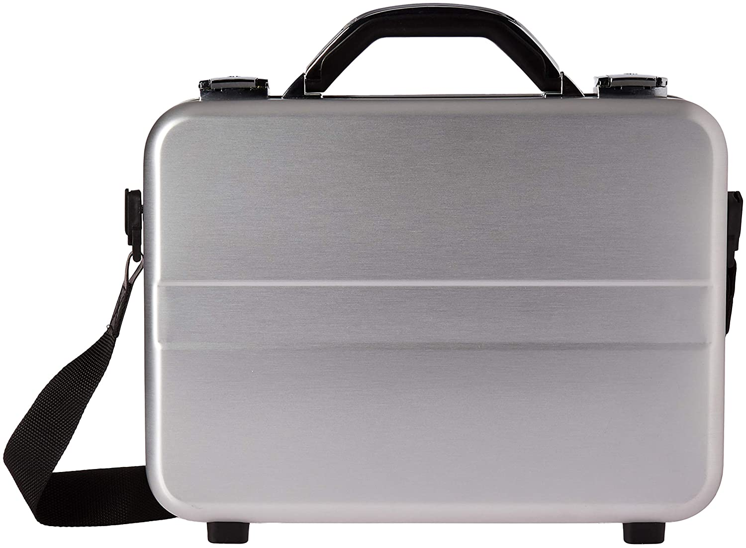 98c232676444 TZ Case International Tz Compact Molded Aluminum Attache Case with Shoulder  Strap, Silver