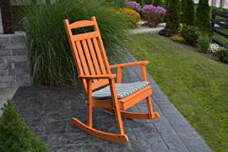 product image for Furniture Barn USA Outdoor Poly Classic Porch Rocker - Tangerine