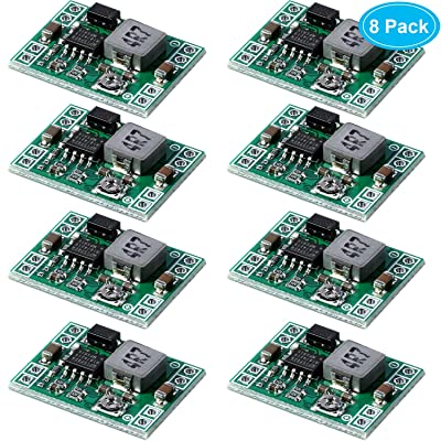 8 Pack Ultra Small MP1584EN DC-DC Buck Converter 3A Power Step Down Adjustable Module 24V to 12V 9V 5V 3V: Home Audio & Theater