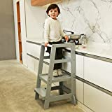 SDADI Kids Step Stools Kitchen Standing Tower Mothers' Helper, Gray LT06G