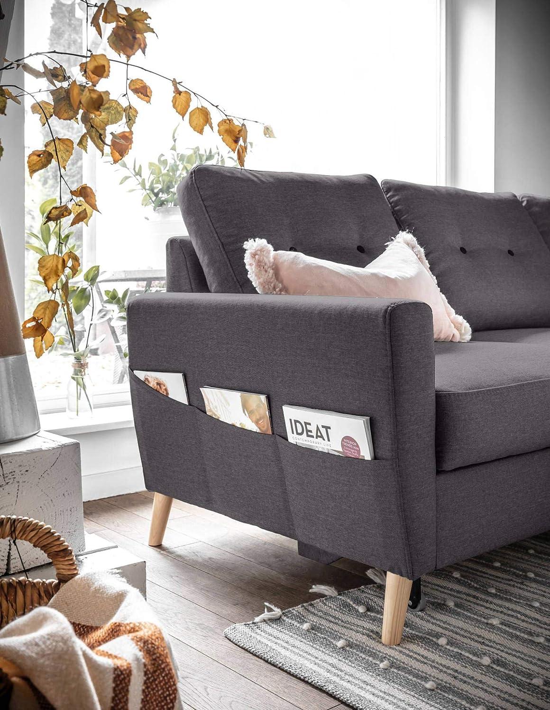 Bobochic - Oslo - Sofá con chaise longue derecho convertible ...