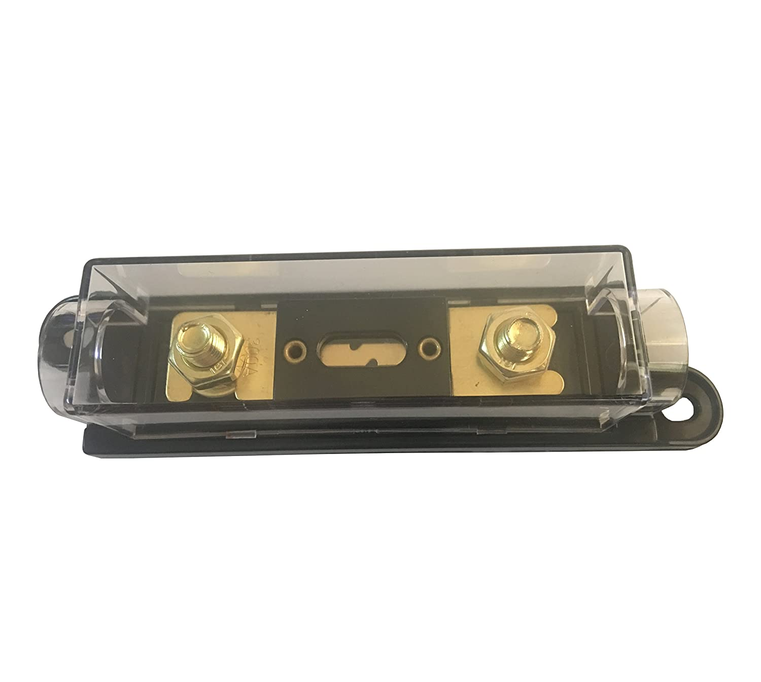 Kolacen Anl Gold Plated Fuse 150 Amp Holder Black 1 Pack Box