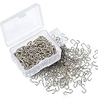 Shappy 200piezas Mini S Ganchos Conectores S-shaped alambre gancho con caja de almacenamiento para bricolaje manualidades, para colgar joyas, Cadena de clave, etiquetas