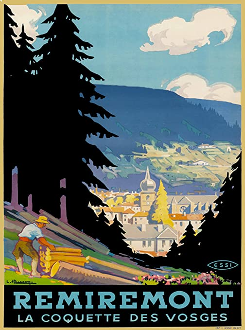 Auvergne France French Europe European Vintage Travel Advertisement Art Poster