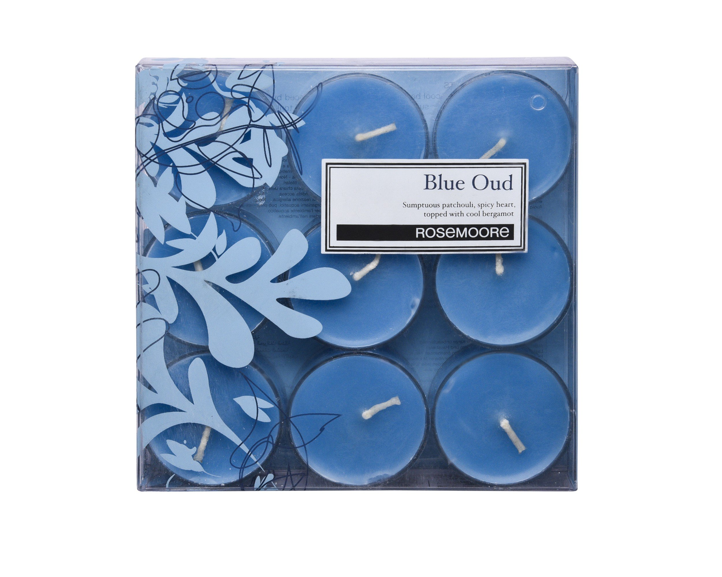 Rosemoore Blue Oud Scented Tea Lights For Living Room, Washroom, Bedroom, Office by Rose and Moore (Image #3)